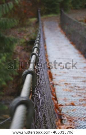 A suspension bridge in Vancouver, Canada. - stock photo