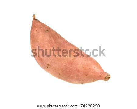 A sweet potato isolated against a white background - stock photo