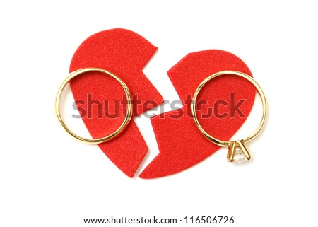 A symbolic meaning to the word divorce. - stock photo