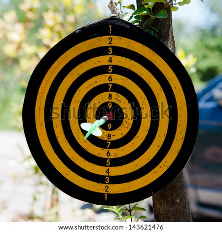 A target. - stock photo