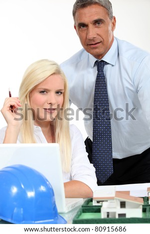 A team of architects - stock photo
