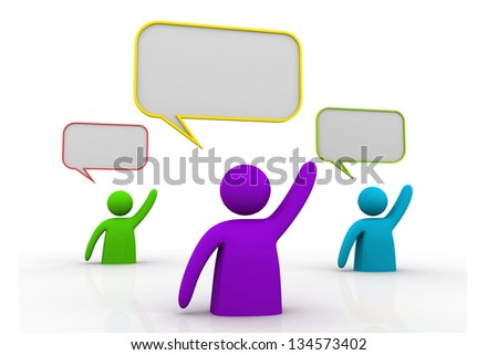 A team of people lifting hands. We Have Answers - stock photo