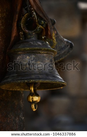 hindu temple bell stock images royaltyfree images