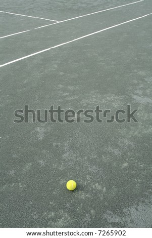 A tennis scene - stock photo