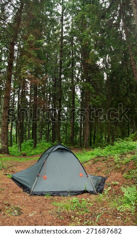 A tent in a wilderness area meadow trees. This panoramic landscape is an & Tent Wilderness Area Meadow Trees This Stock Photo 271687682 ...