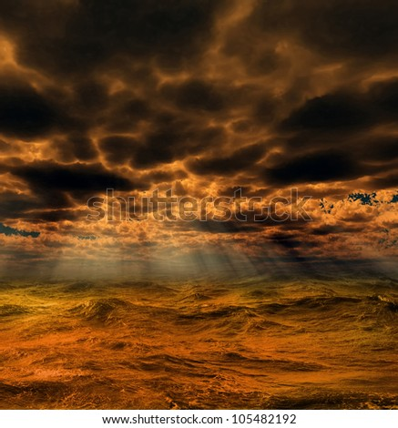 A terrible storm - stock photo