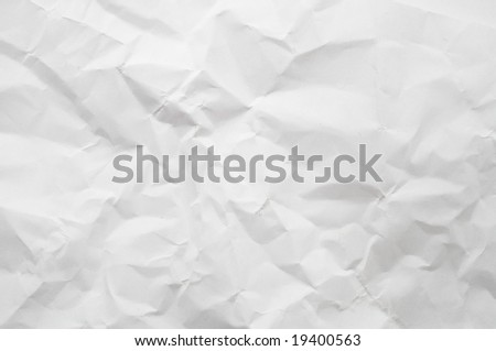a texture of crumpled paper - stock photo