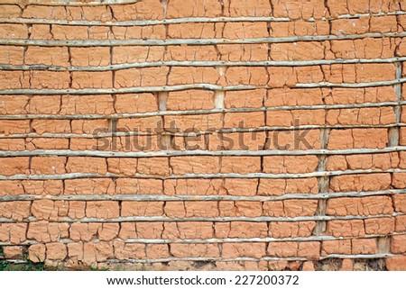A texture theme: Mud house (Texture) - stock photo