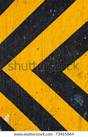A texture with yellow and black danger strips