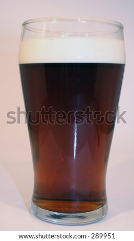 A thirst quenching pint of bitter - stock photo
