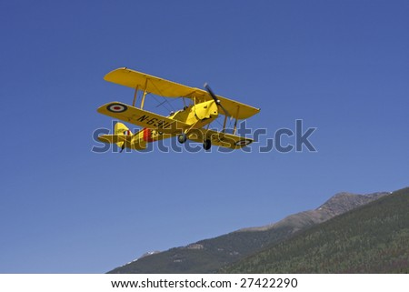 A 1938 Tiger Moth Airplane - stock photo