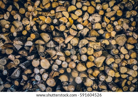 A ton of woodpile