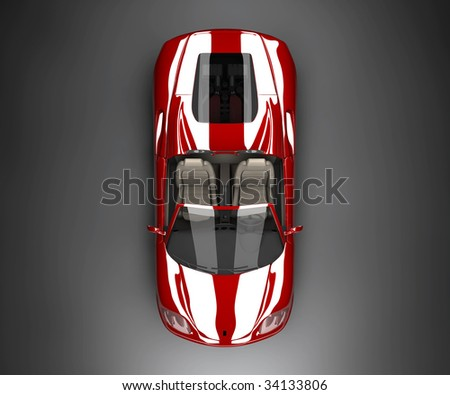 A top red car - stock photo