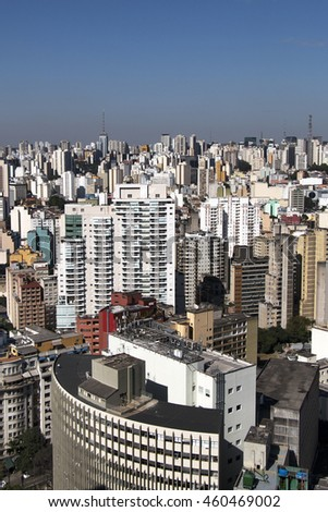 A top view from downtown area of Sao Paulo, Brazil