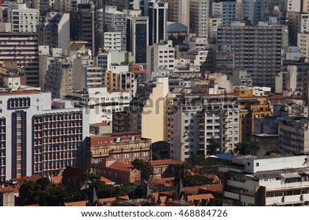 A top view from downtown area of Sao Paulo, Brazil.