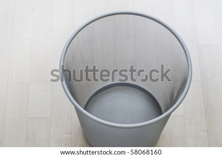 A top view of an empty trash can - stock photo