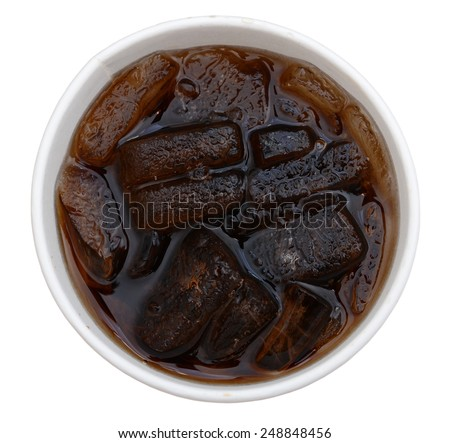 A top view of soda cup - stock photo