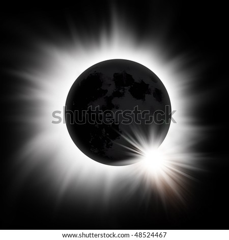 A total eclipse of the sun. - stock photo