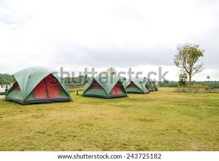 A tourist tent - stock photo