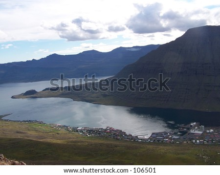A town called Eskifjordur in east Iceland