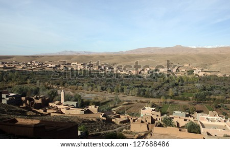 A town near the Dades Gorge of central Morocco.
