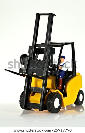 A toy forklift truck - stock photo