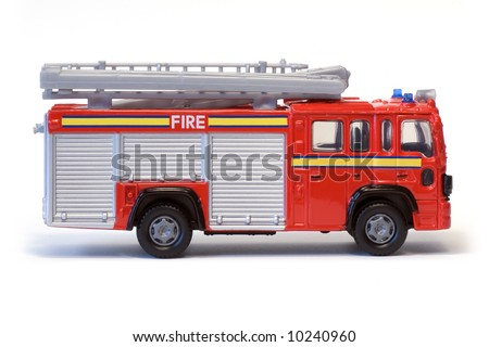 A toy London fire engine. - stock photo