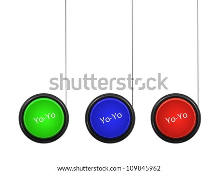 A toy yoyo isolated against a white background - stock photo