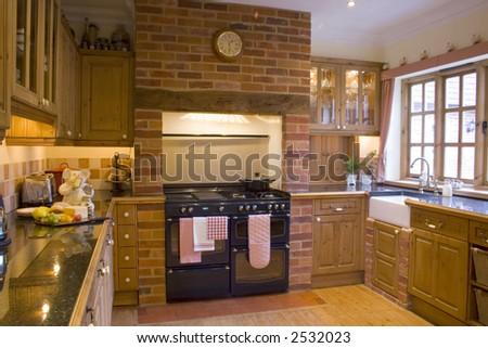 A traditional farmhouse kitchen - stock photo