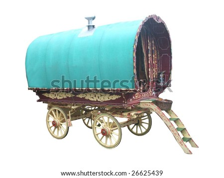 A Traditional Gypsy Horse Drawn Caravan.