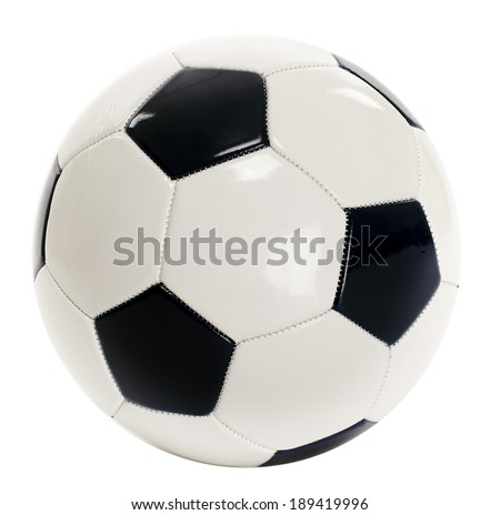 A traditional soccer ball isolated on white background - stock photo