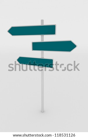 a traffic shield maded in 3d - stock photo