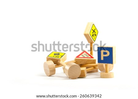 A traffic signal for children to learn to drive properly. - stock photo