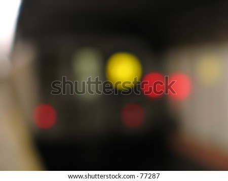 a train in nyc - stock photo