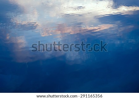 A tranquil water pattern. Abstraction for a relaxation - stock photo