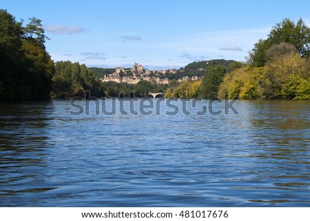 A trip on the Dordogne River near Beynac-et-Cazenac, Dordogne, France