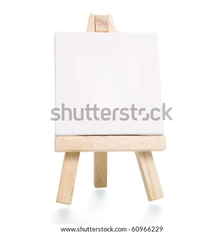 a tripod easel with a canvas
