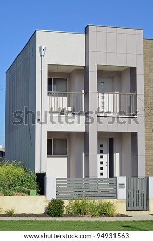 A two storey modern home in Australia - stock photo