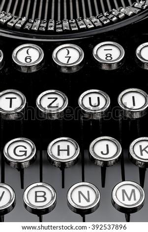 a typewriter keyboard - stock photo
