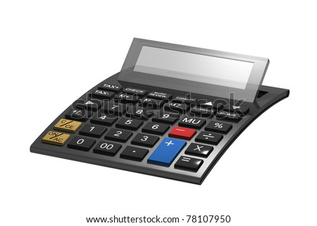 A typical calculator with space for your content - stock photo