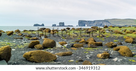 A typical Icelandic landscape - Iceland - stock photo