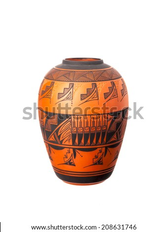 A Ute vase isolated on a white background - stock photo