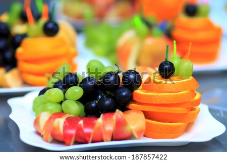 A variety of delicious culinary products. - stock photo