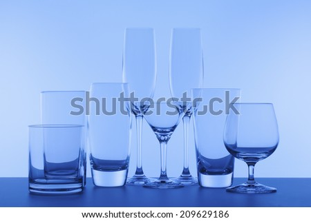 A Various Kinds Of A Glass Of Alcohol