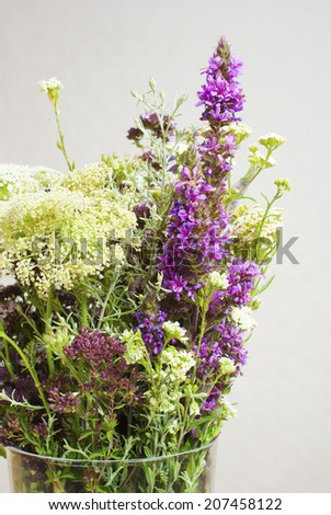 a vase of wildflowers