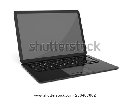 A very high resolution Simple Laptop 3D rendering image