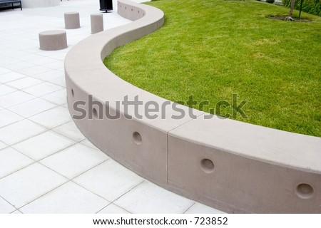 A very modern treatment to a public area. - stock photo