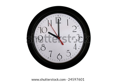 A very nice shot of a clock showing 10 O'clock - stock photo