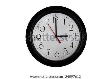 A very nice shot of a clock showing 3 O'clock - stock photo