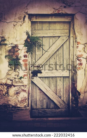 stock-photo-a-very-old-doorway-in-a-concrete-and-brick-wall-with-retro-grungy-wooden-door-and-fern-plants-with-222032416.jpg